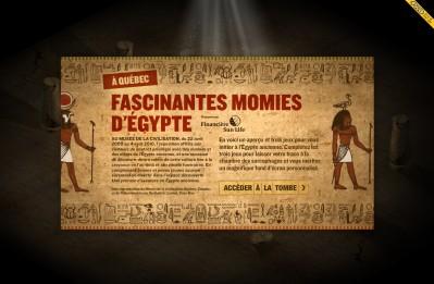 Microsite de l'exposition Fascinantes momies d'Égypte