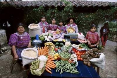 Famille Mendoza, Guatemala. © Peter Menzel