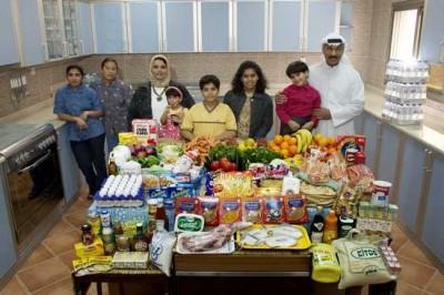 Famille Al Haggan, Koweït. © Peter Menzel