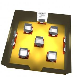 Plan de la salle d'exposition au Musée de la civilisation
