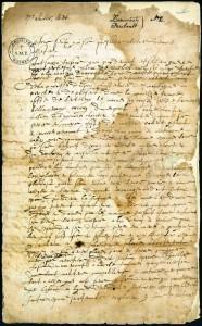 La première page du contrat.