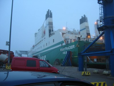 Traversier en Mer Baltique.