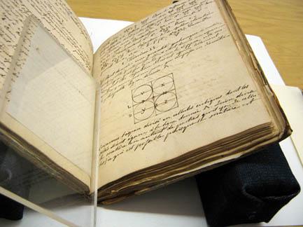 Mélange de mathématiques (1803-1804) par Jérôme Demers. Musée de la civilisation, bibliothèque de livres rares et anciens du Séminaire de Québec