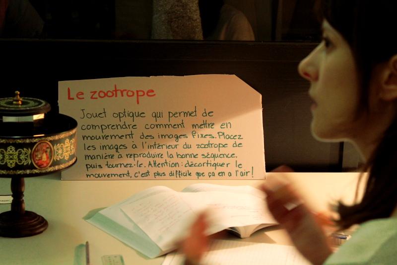 Prototyper le texte accompagnant le zootrope.
