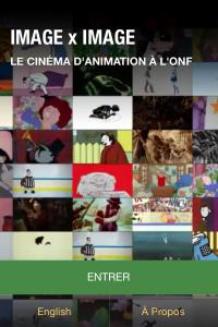 L'application mobile compagnon à l'exposition Image x Image. Le cinéma d'animation à l'ONF.