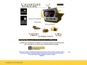 Le site Internet du Musée en 1998.